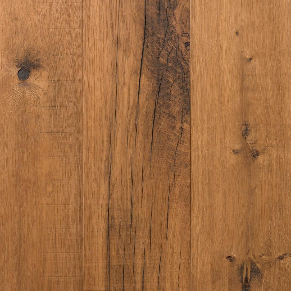 Parquet contrecollé en Chêne de récupération - huilé, brut ou verni